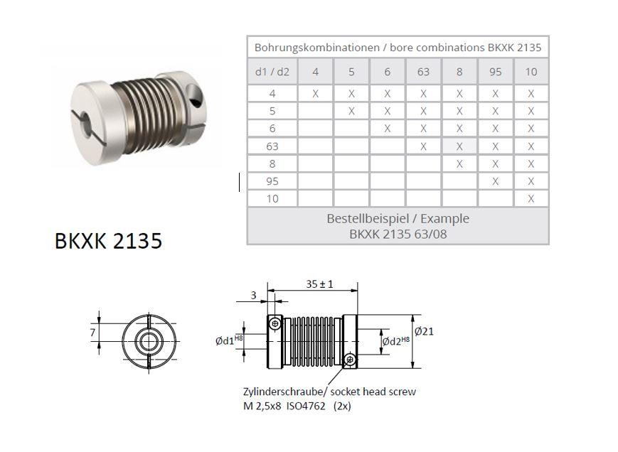 BKXK 2135 Balg koppeling