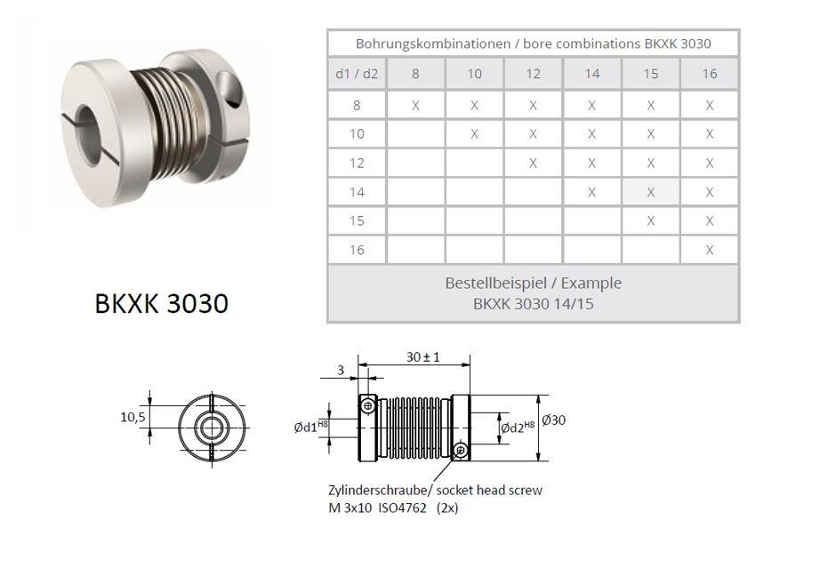 BKXK 3030 Balg koppeling