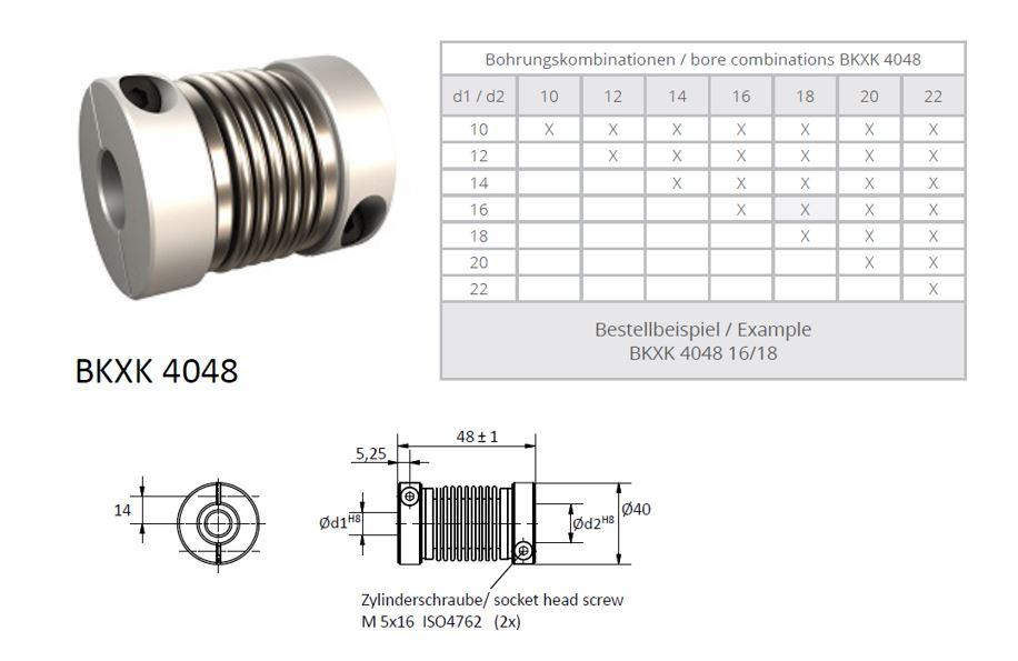 BKXK 4048 Balg koppeling