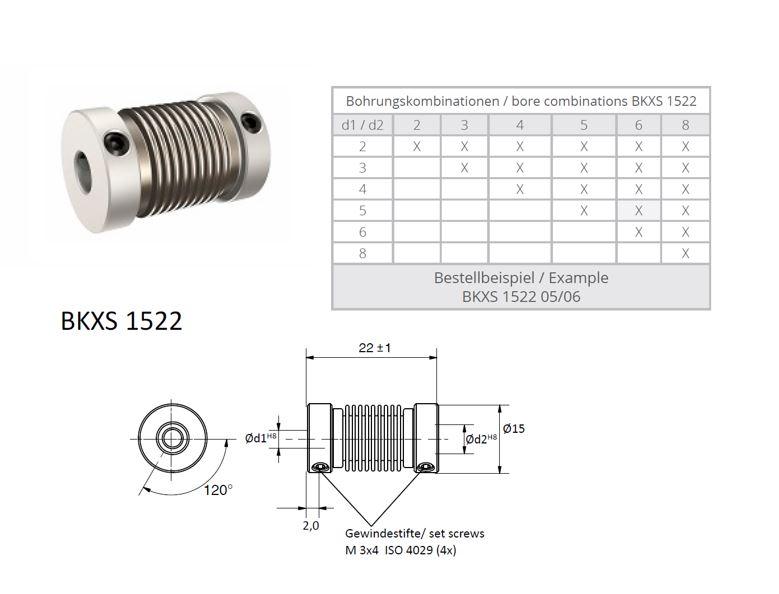BKXS 1522 Balg koppeling