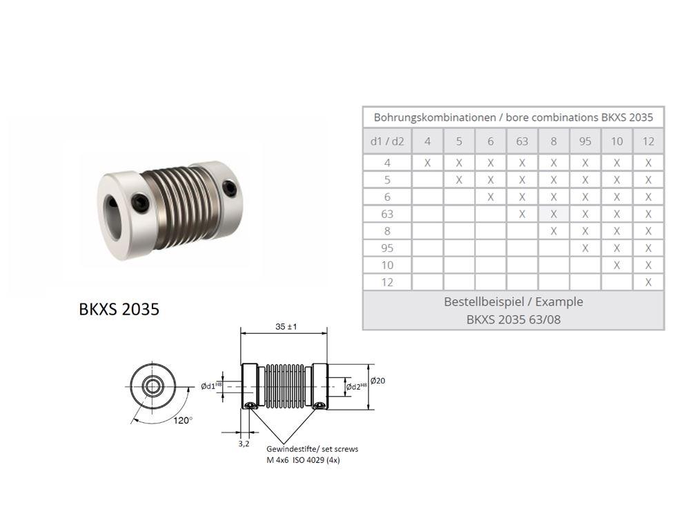 BKXS 2035 Balg koppeling