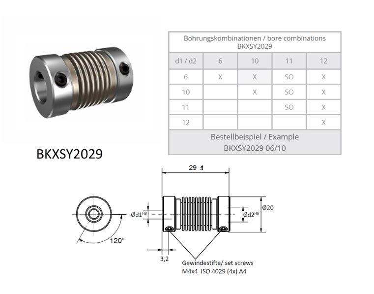 BKXSY 2029  Balg koppeling