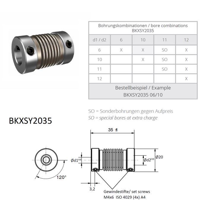 BKXSY 2035 Balg koppeling