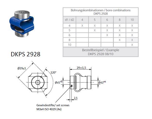 DKPS 2928 Dubbele lus koppeling