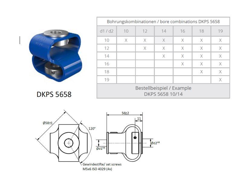 DKPS 5658 Dubbele lus koppeling