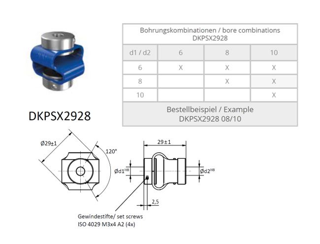 DKPSX 2928 Dubbele lus koppeling