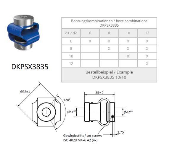 DKPSX 3835 Dubbele lus koppeling