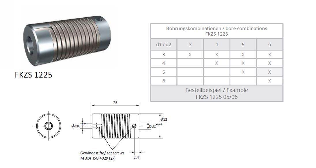 FKZS 1225 Veerkoppeling