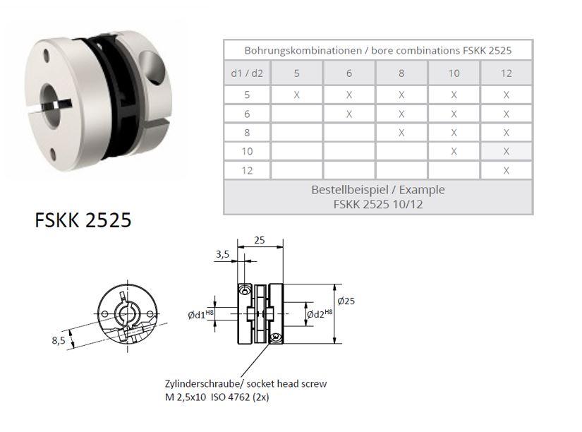 FSKK 2525 Veerschijfkoppeling