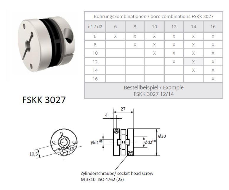 FSKK 3027 Veerschijfkoppeling