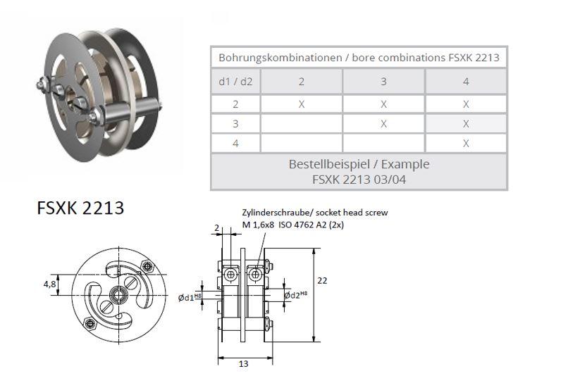 FSXK 2213 Veerschijfkoppeling