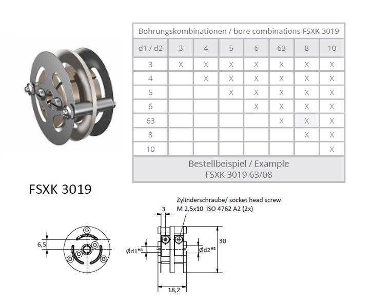 FSXK 3019 Veerschijfkoppeling