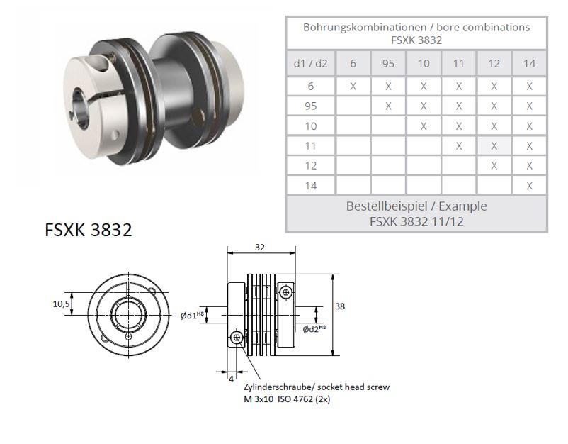 FSXK 3832 Veerschijfkoppeling