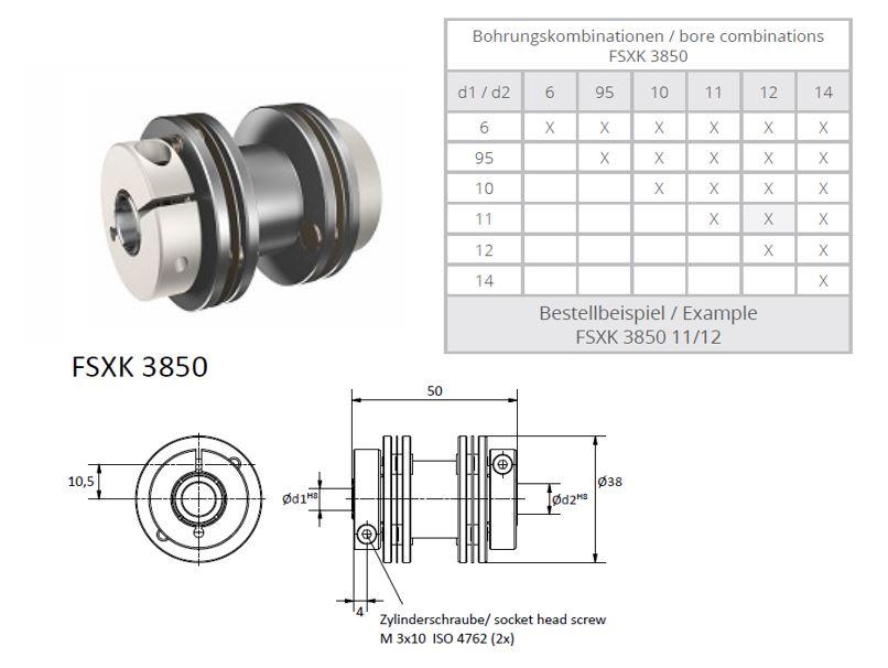 FSXK 3850 Veerschijfkoppeling