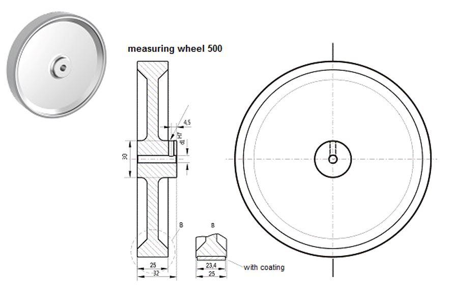 Meetwiel 500mm