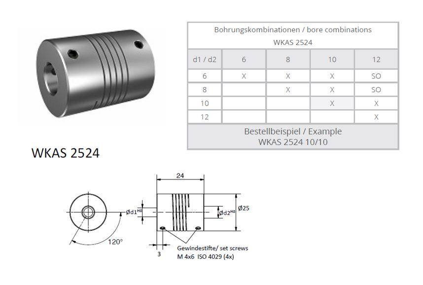 WKAS 2524 Spiraal koppeling